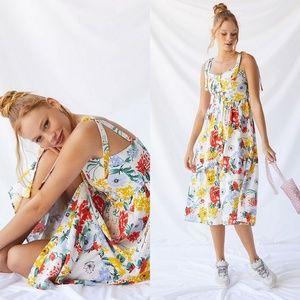 NWT U O Positano Tie-Shoulder Midi Dress